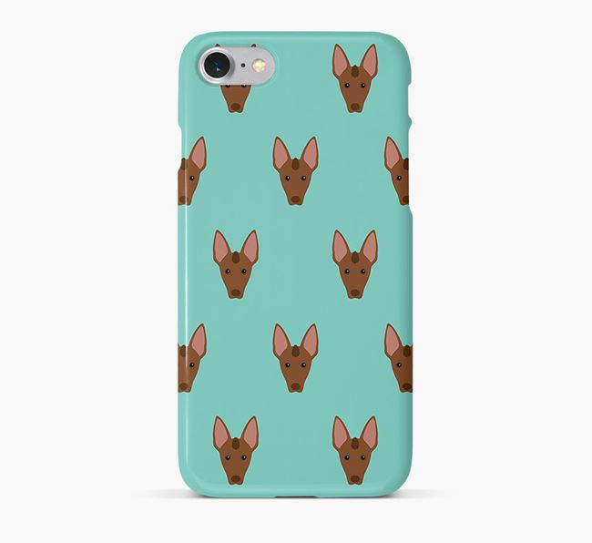 Phone Case with Mexican Hairless Icons