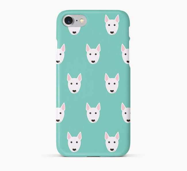 Phone Case with Miniature Bull Terrier Icons