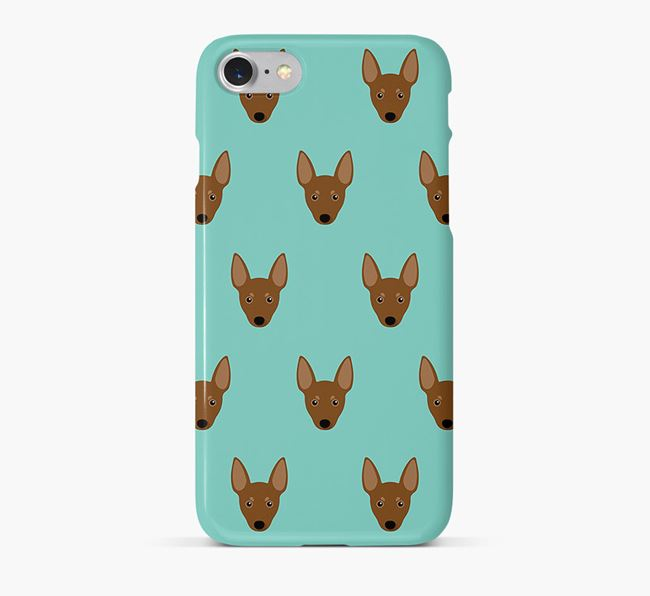 Phone Case with Miniature Pinscher Icons