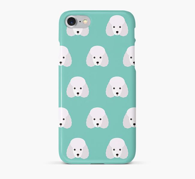 Phone Case with Miniature Poodle Icons