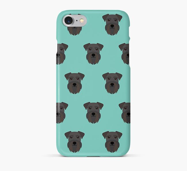 Phone Case with Miniature Schnauzer Icons