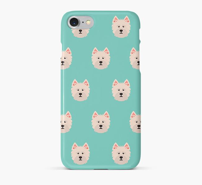Phone Case with Norfolk Terrier Icons