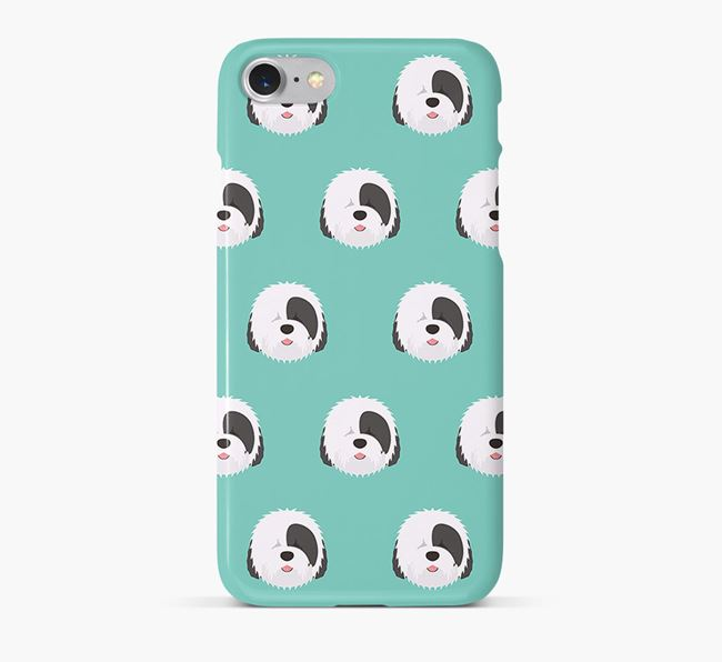 Phone Case with Sheepdog Icons