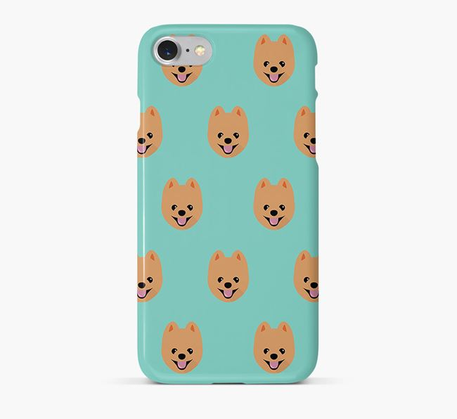 Phone Case with Pomeranian Icons