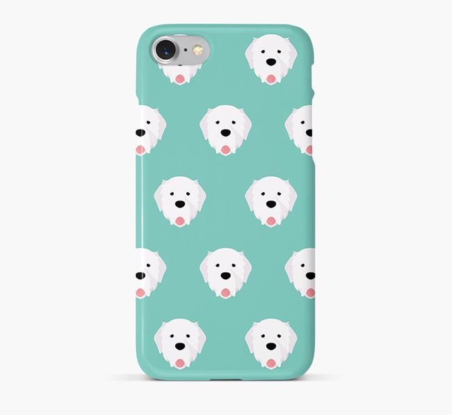 Phone Case with Pyrenean Mastiff Icons