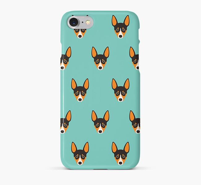 Phone Case with Rat Terrier Icons