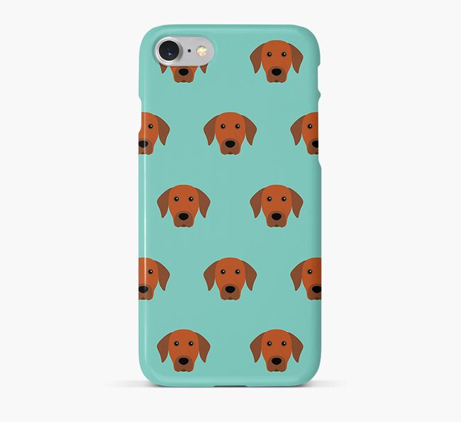 Phone Case with Rhodesian Ridgeback Icons