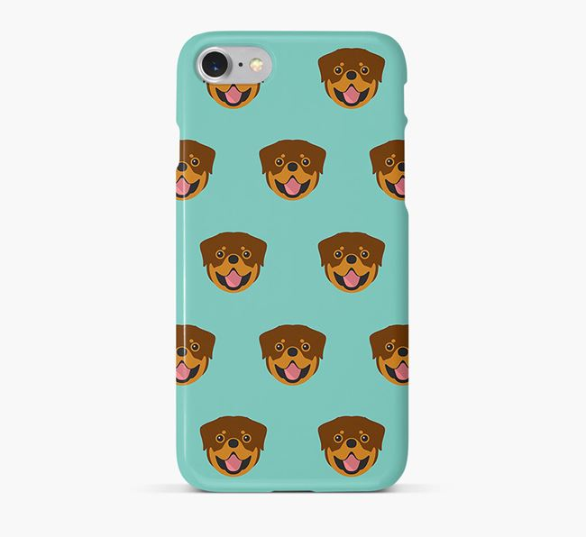 Phone Case with Rottweiler Icons