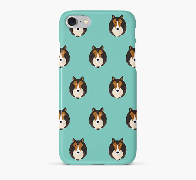 Phone Case with Collie Icons