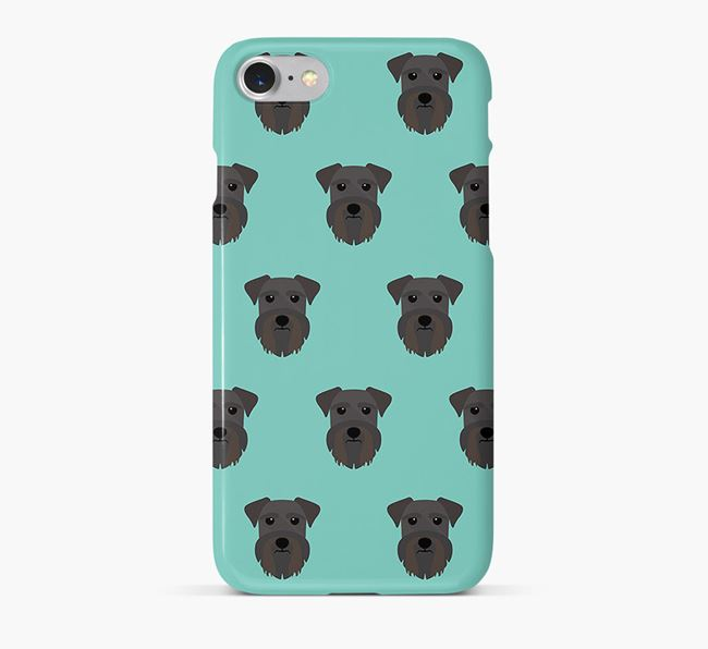 Phone Case with Schnauzer Icons