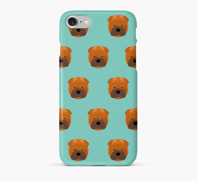 Phone Case with Shar Pei Icons