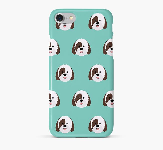 Phone Case with Sheepadoodle Icons