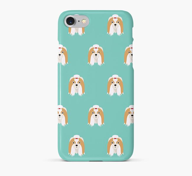 Phone Case with Shih Tzu Icons