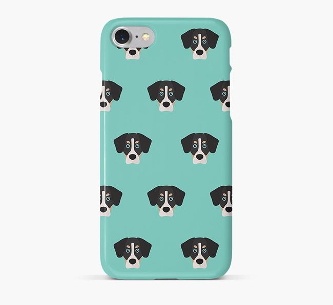 Phone Case with Siberian Cocker Icons
