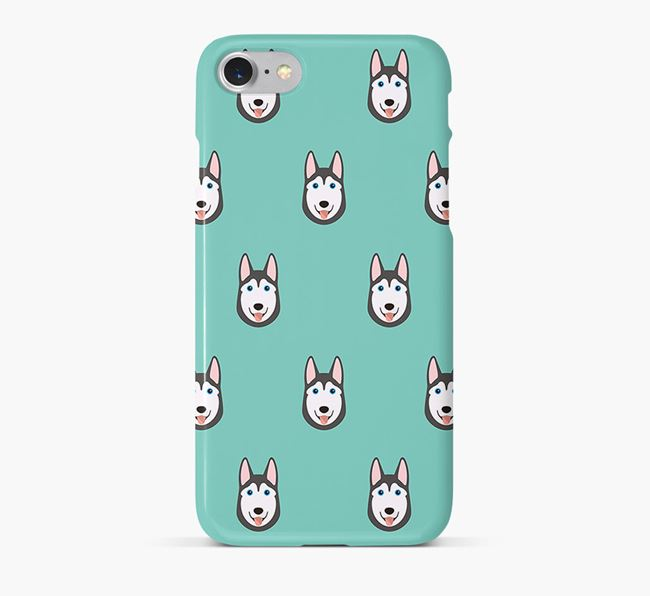 Phone Case with Husky Icons