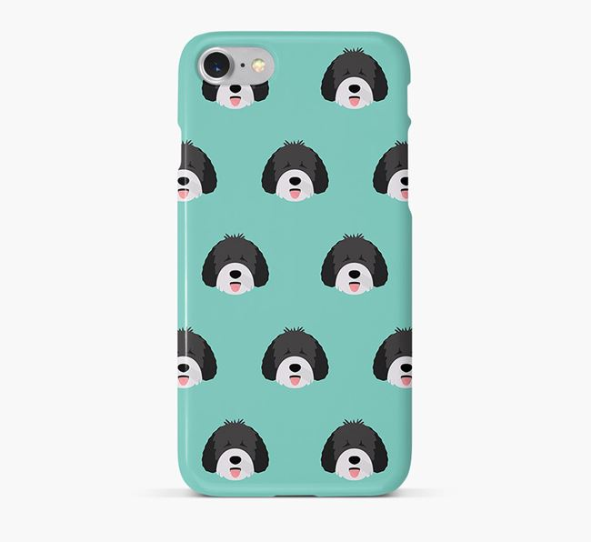 Phone Case with Spanish Water Dog Icons