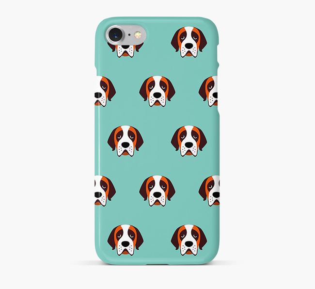 Phone Case with St. Bernard Icons