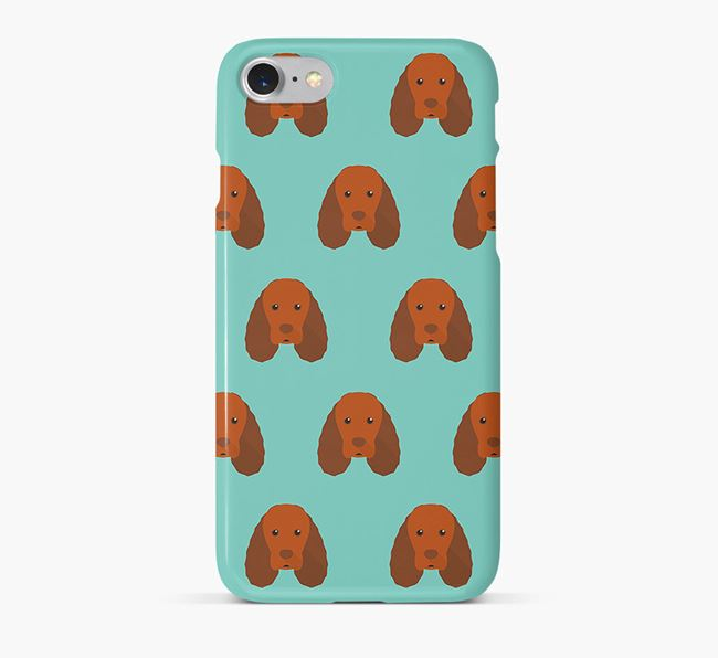 Phone Case with Sussex Spaniel Icons