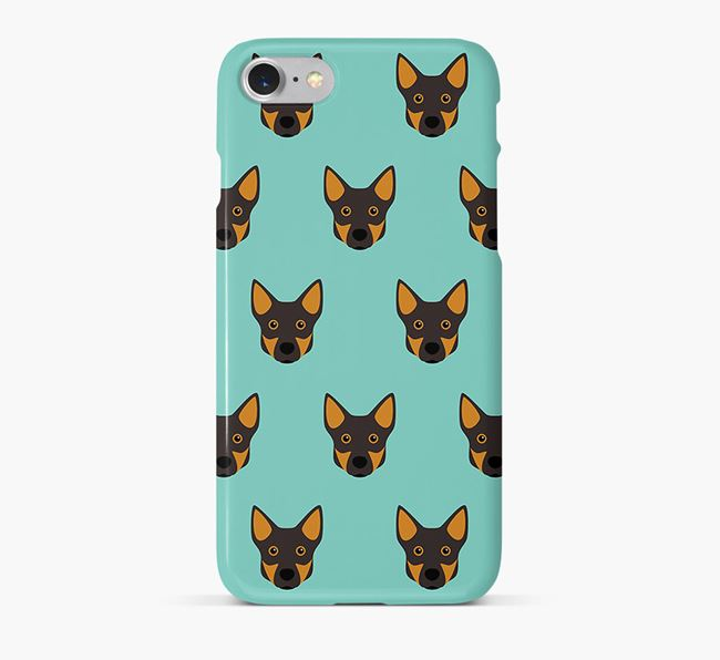 Phone Case with Swedish Vallhund Icons