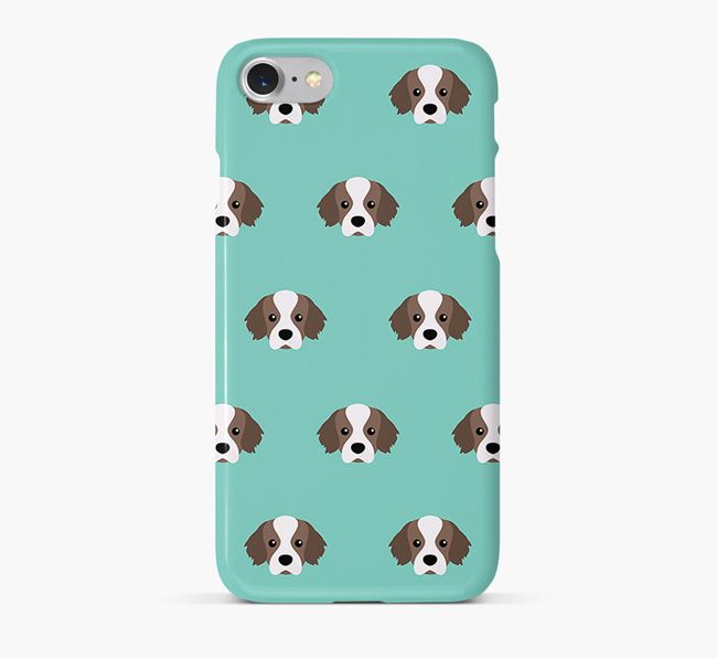 Phone Case with Tibetan Spaniel Icons