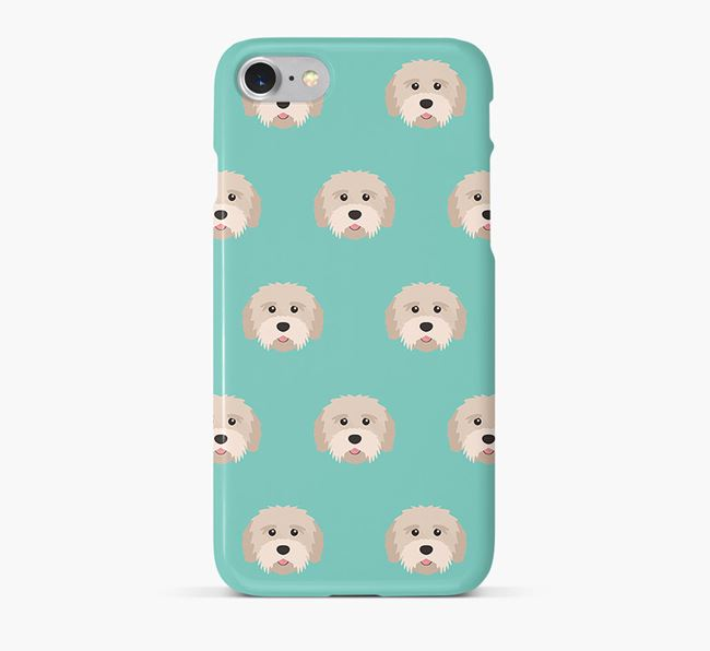 Phone Case with Tibetan Terrier Icons