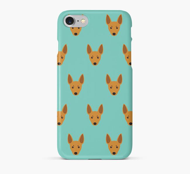 Phone Case with Toy Fox Terrier Icons