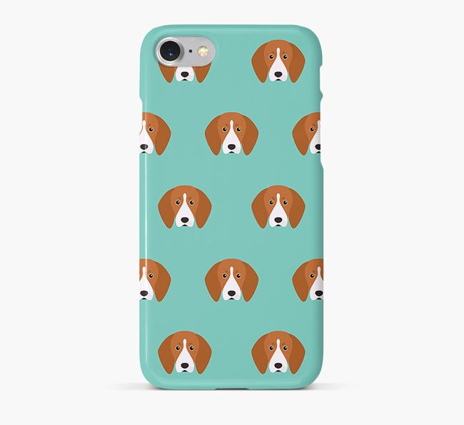 Phone Case with Treeing Walker Icons