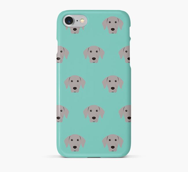 Phone Case with Weimaraner Icons