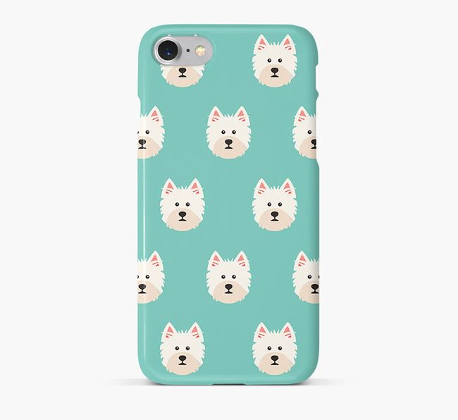 Phone Case with Westie Icons