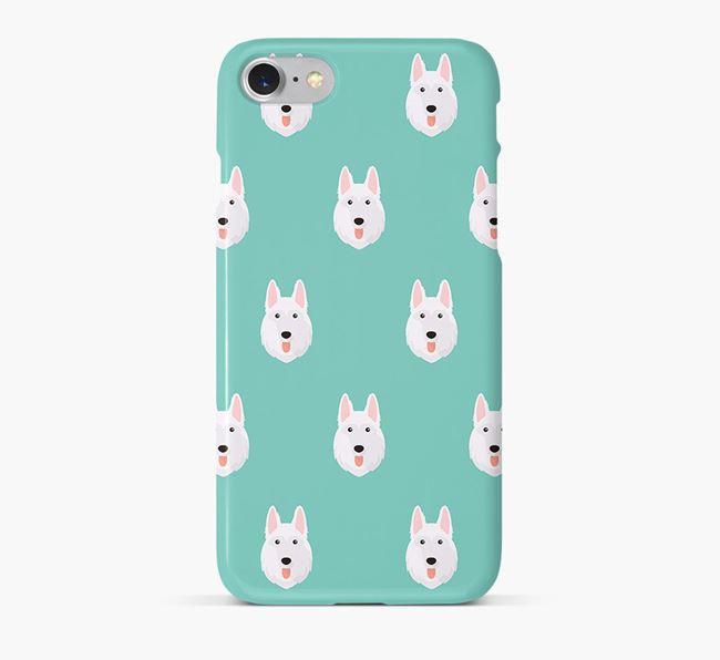 Phone Case with White Swiss Icons