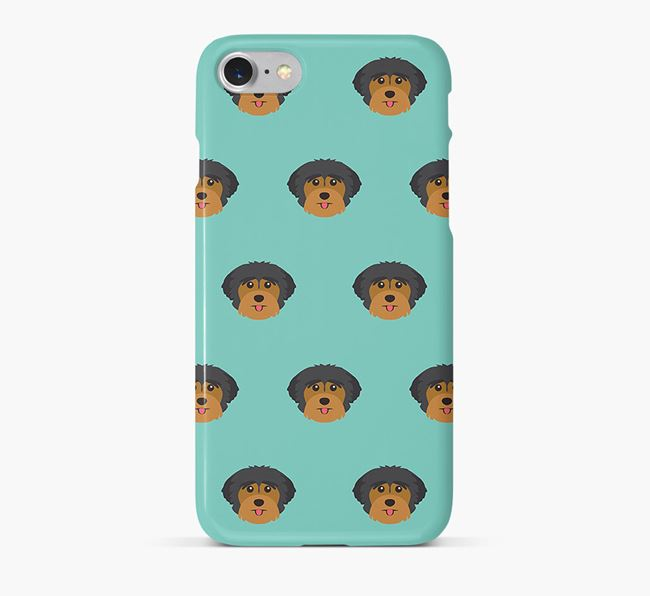 Phone Case with Yorkshire Terrier Icons