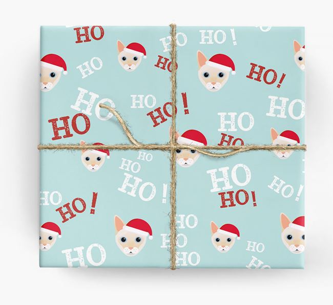 'Ho! Ho! Ho!' - Personalised Siamese Wrapping Paper