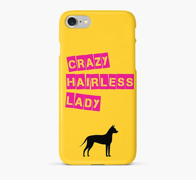 Phone Case 'Crazy American Hairless Lady