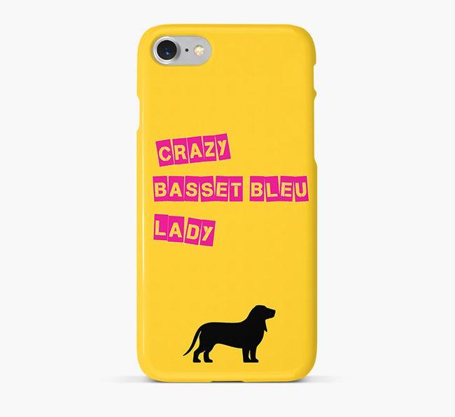 Phone Case 'Crazy Basset Bleu Lady
