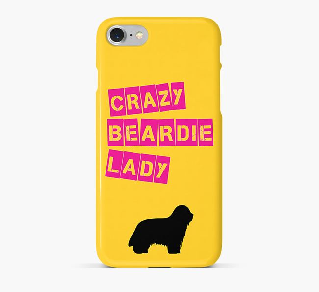 Phone Case 'Crazy Bearded Collie Lady