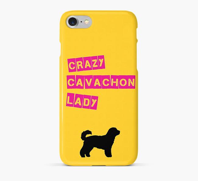 Phone Case 'Crazy Cavachon Lady