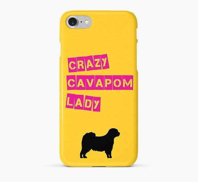 Phone Case 'Crazy Cavapom Lady