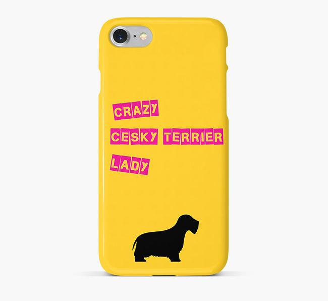 Phone Case 'Crazy Cesky Terrier Lady