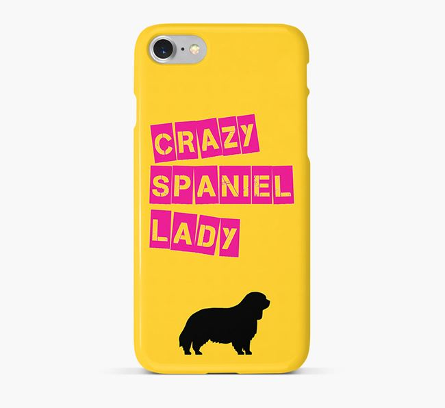 Phone Case 'Crazy Clumber Spaniel Lady