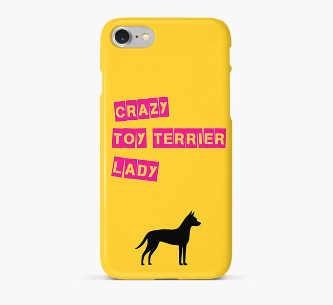 Phone Case 'Crazy Toy Terrier Lady