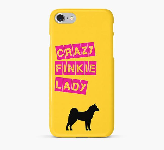 Phone Case 'Crazy Finnish Spitz Lady