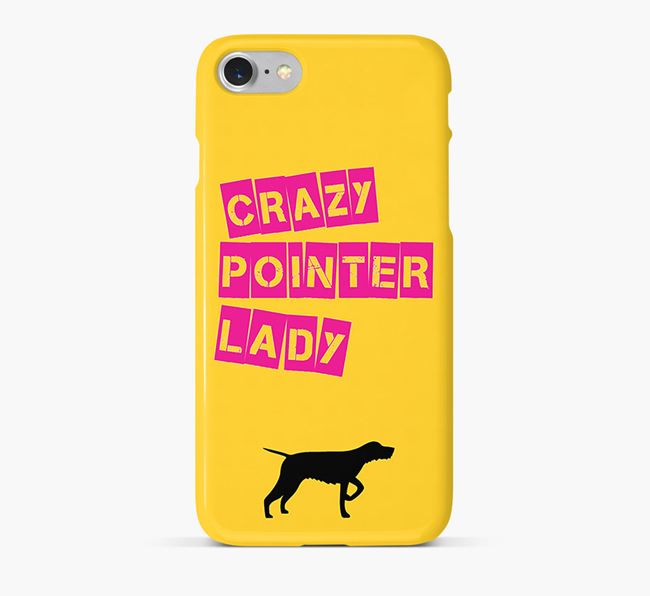 Phone Case 'Crazy Wirehaired Pointer Lady