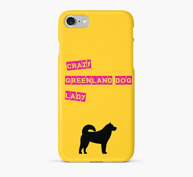 Phone Case 'Crazy Greenland Dog Lady