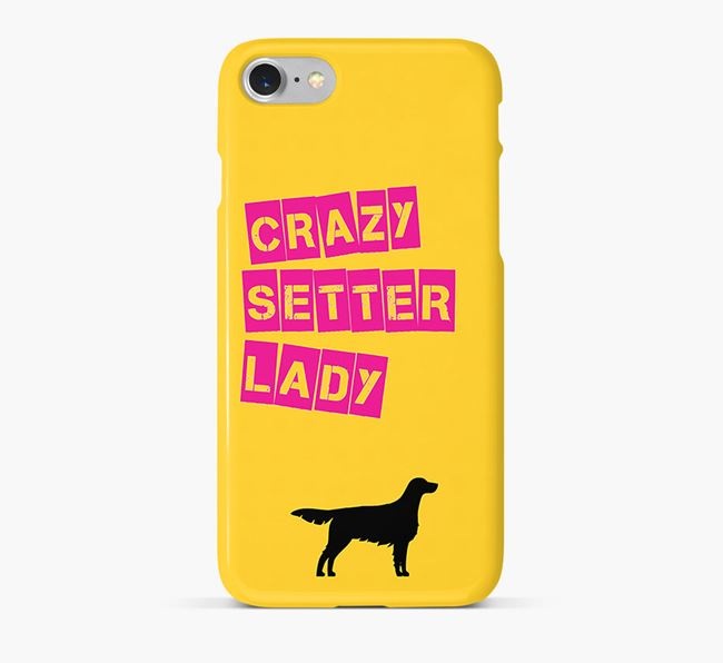 Phone Case 'Crazy Red & White Setter Lady