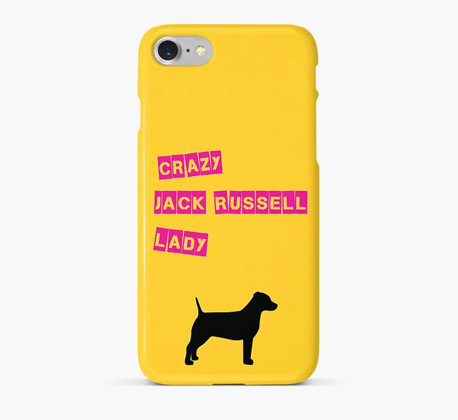 Phone Case 'Crazy Jack Russell Lady