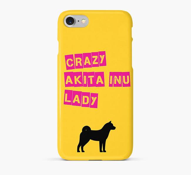 Phone Case 'Crazy Akita Inu Lady
