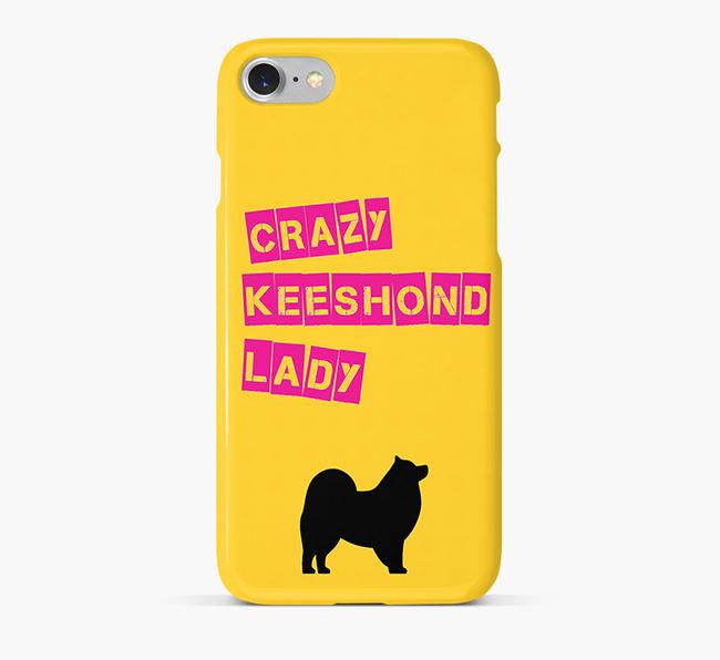 Phone Case 'Crazy Keeshond Lady