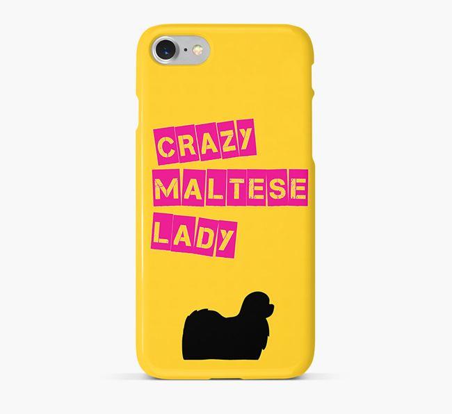 Phone Case 'Crazy Maltese Lady