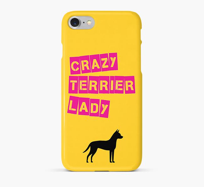 Phone Case 'Crazy Manchester Terrier Lady