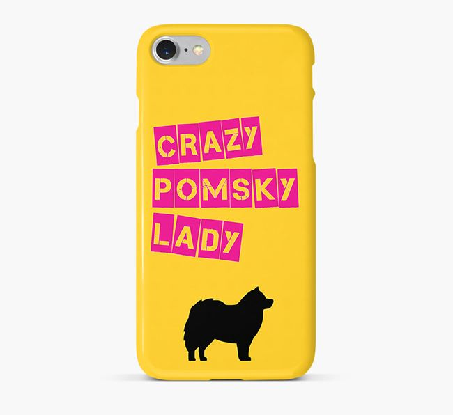 Phone Case 'Crazy Pomsky Lady